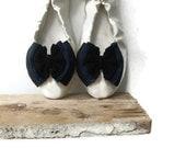 Black,blue,grey  bow shoe clips