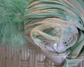 Destash:  Quad of green novelty yarns, perfect for scarves