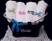 6 Waffle Weave Spa Bath Wraps Personalized Wedding Gifts