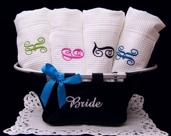 Set of 3 Bath Wraps Personalized Weddings Bridesmaids