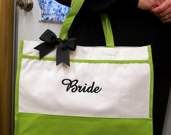 Personalized Bride Tote Bag Wedding Bridesmaid Gifts