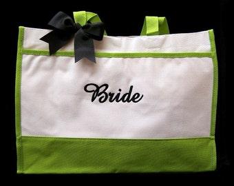 Personalized Bride Tote Bag Wedding Bridesmaid Gifts