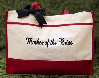 2 Personalized Wedding Totes MOB MOG Bridal Gifts
