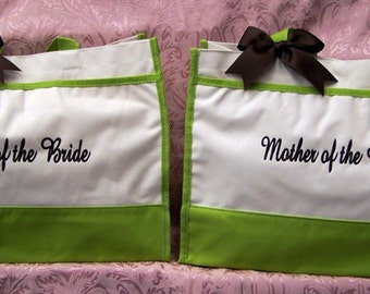 Personalized Mother of Bride Groom Bridal Gift Bags