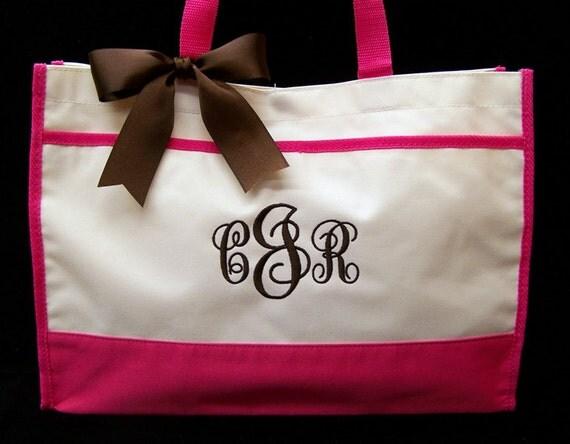 Personalized Tote Bag Wedding Bridesmaids Bridal Gift