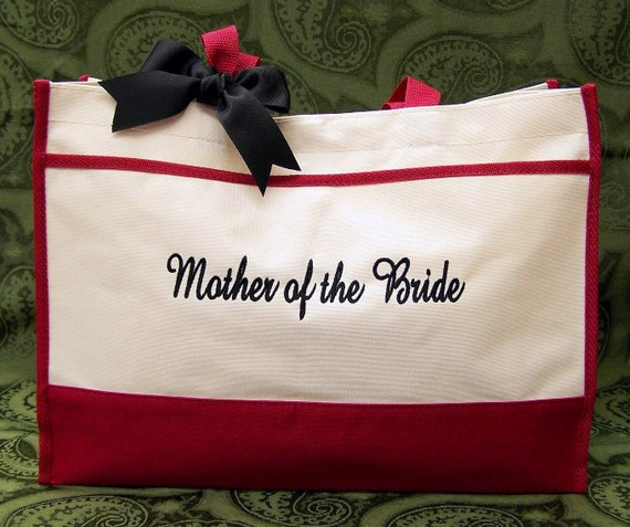 Personalized Tote Bag Mother of the Bride Groom Wedding Gifts
