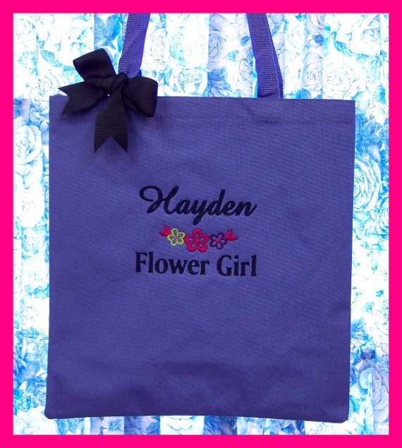 Personalized Tote Bag FLOWERGIRL Wedding Flower Girl