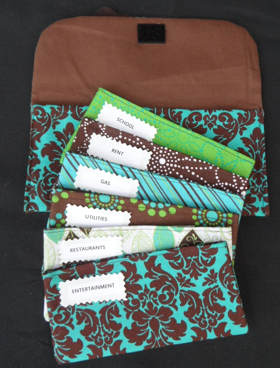 Cash Budget System Fabric Envelopes Carrier And Coin Pouch