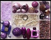 Complete Bead Kit - Make Your Own Jewelry - PURPLE BUTTERFLY - Charm Bracelet