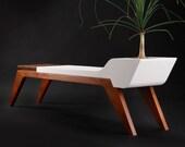 Comfortable Silence (white concrete bench)