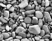 Smooth 5x7 Black and White Photo of rocks