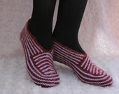 Hand Knitted Slippers Wool , unique wool slippers