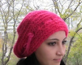 Soft candy pink hat