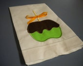 Fall Candy Apple Linen Tea Towel