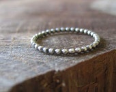 Beaded Sterling Silver Stacking Ring kiometals