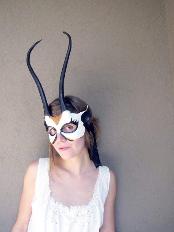 Gazelle Leather Halloween Mask