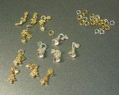 Tiny Christmas Charms Nail Charms Miniature Christmas Charms Stocking Bell Tree