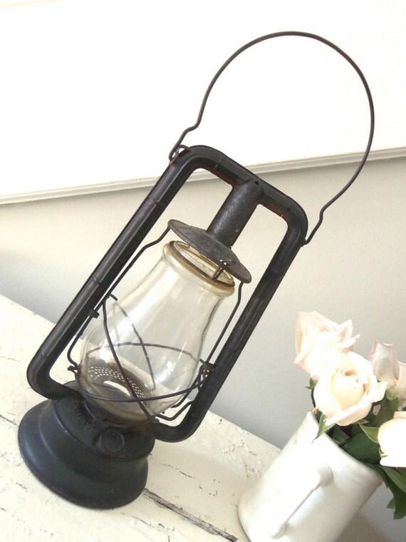 Vintage Lantern Black Rustic Kerosene