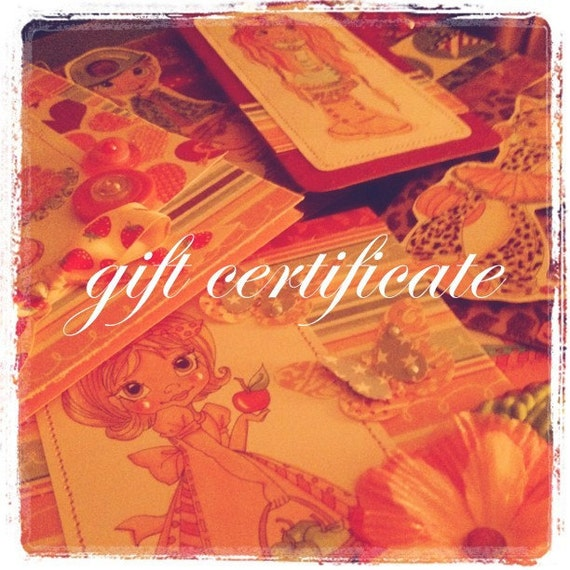 Gift Certificate for Kelly