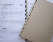 2012 Weekly/Monthly Planner with Natural Cover