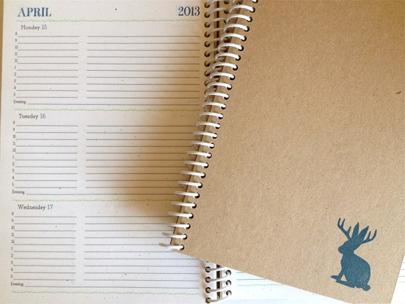 2012-2013 Academic Weekly & Monthly Planner (Jackalope)