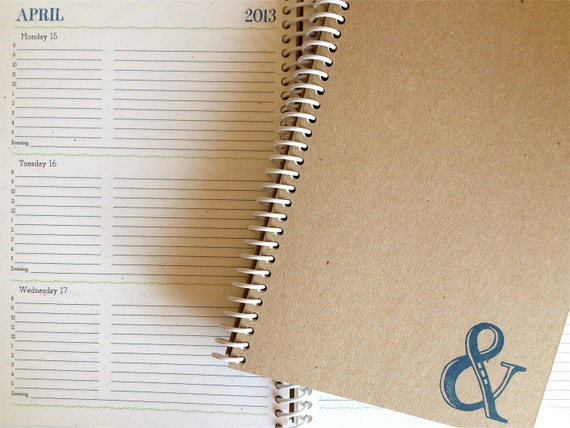 2012-2013 Academic Weekly & Monthly Planner (Ampersand)
