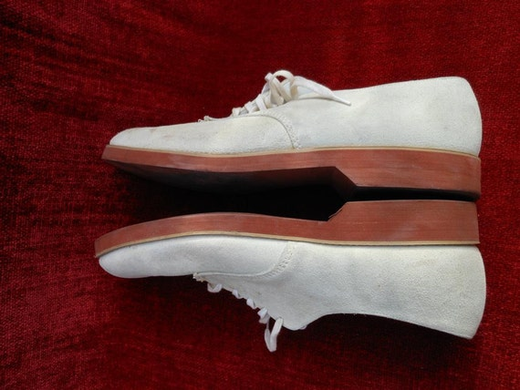 White Buck Oxford Shoes made in the USA