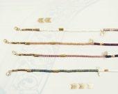 soleil turquoise beaded bracelet triangle & raw diamond