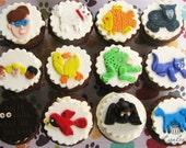 Brown Bear, Brown Bear Inspired Fondant Cupcake Toppers