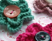 A 'pretty petal' knitted flower brooch - 50% OFF