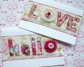 A recycled fabric greetings card - 50% OFF