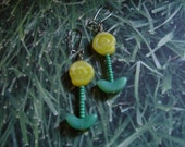 Pierced Earrings Yellow Floral Breath of Spring