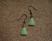 Pierced Earrings Modernistic Mint Green Christmas Trees