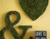 Moss Heart Wall Hangings