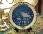 Dresden Limited Edition Christmas 1972 Gold Trimmed Plate