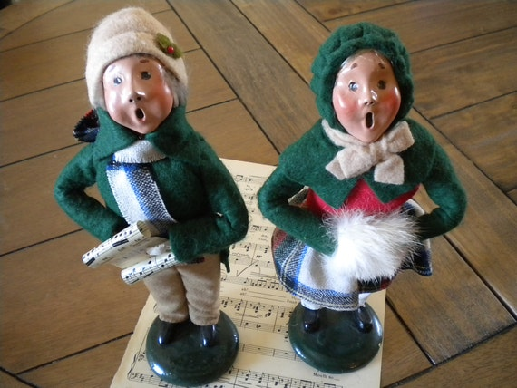 Reserved Buyers Choice...Christmas Carolers... 1986 Set of Two.