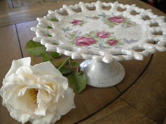 Norcrest // Dresden Rose // Tidbit// Cake Stand//