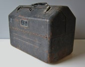 Metal Toolbox: Vintage Toolbox, Large Tool Box, Industrial, Rustic, Expandable,1950s Simonsen Metal Products Company Chicago Illinois