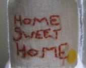 "Mason jar- ""home sweet home"""