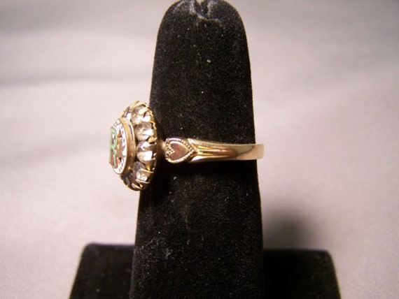 RARE Clark & Coombs 10K Gold Filled Rebekah Ring