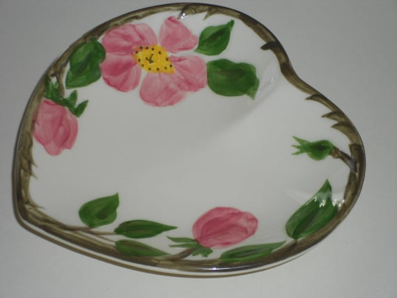 Desert Rose Vintage Heart Shaped Dish