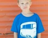 VeeDub Bus T-Shirt, AirCooled classic, Youth Size Medium