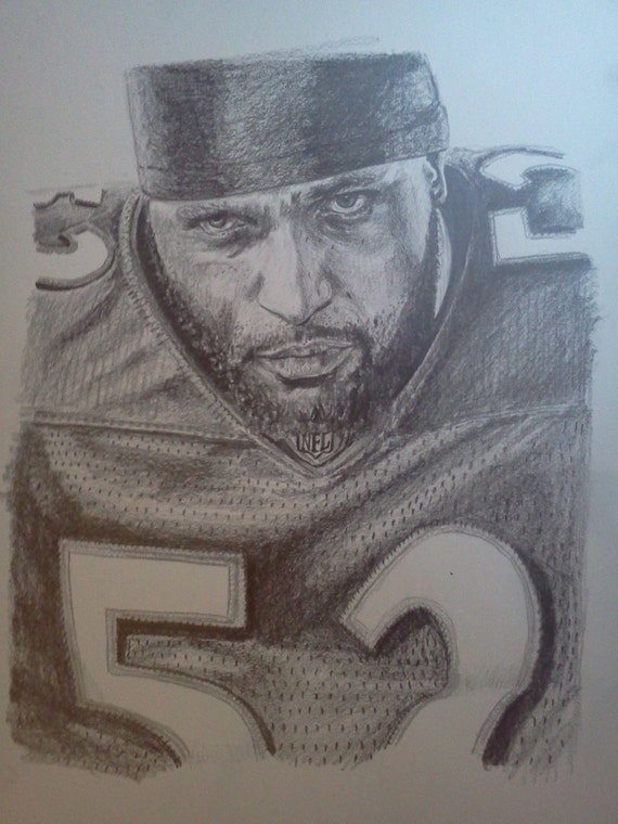 Ray Lewis Drawings 8x10 ray lewis graphite pencil