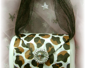 One Handmade Bar Soap Purse Pocketbook Party Favor Soap Bridal or Baby Shower Soap