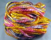 Merino Wool Handspun Art Yarn -- BOLLYWOOD DREAMS, 86 yd.