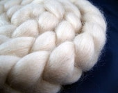 Natural Blue Faced Leicester BFL Roving -- 4 oz.
