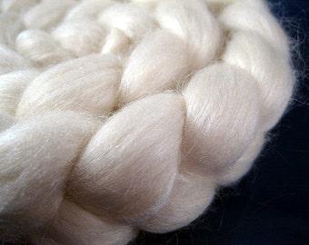 Undyed Merino Silk Roving, 80/20, 2 oz.