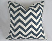 Chevron -  Teal, Cream, Textured -  Decorative Pillow Cushion Cover - Accent Pillow - Throw Pillow - ZigZag