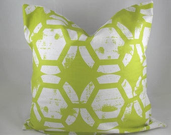 Honeycomb Chartreuse - Decorative Pillow Cushion Cover - Accent Pillow - Throw Pillow - Green, Lime