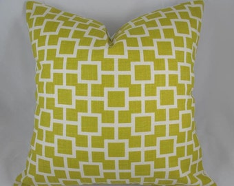 Robert Allen - Cats Cradle Sunshine - Decorative Pillow Cushion Cover - Accent Pillow - Throw Pillow - 16 x 16